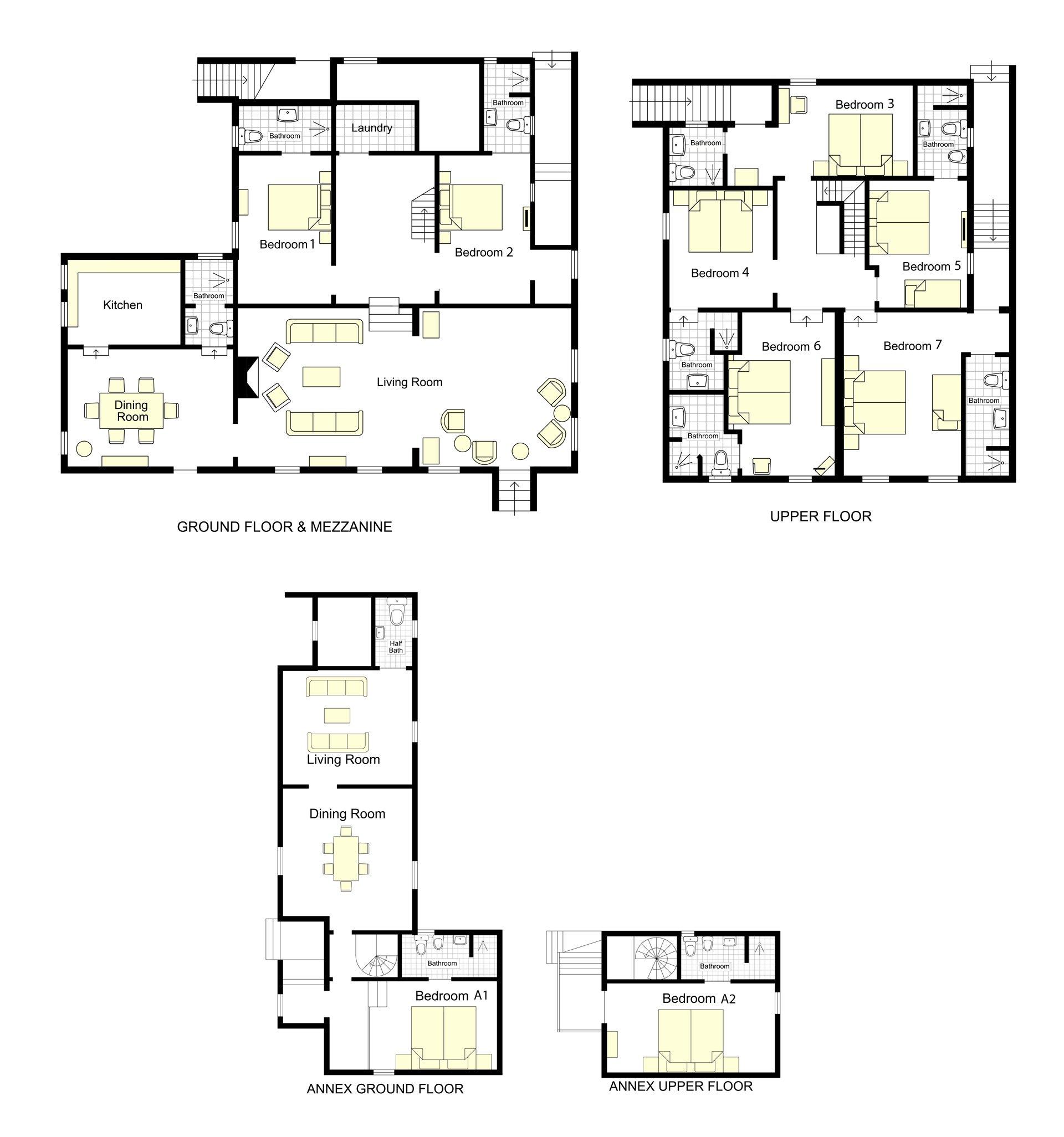 Frantoio Villa Floorplan
