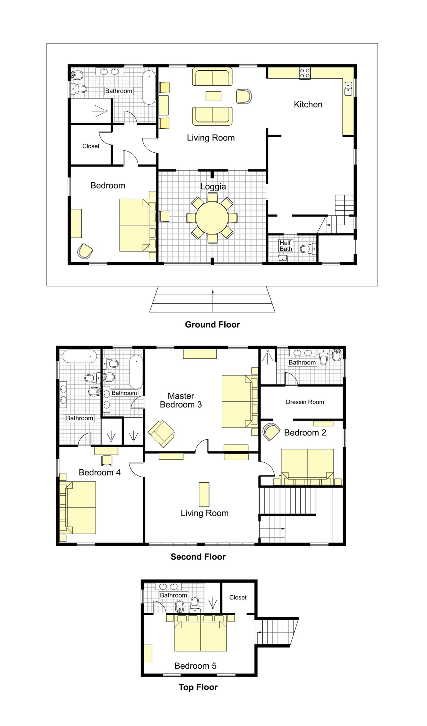 Maragone Villa Floorplan