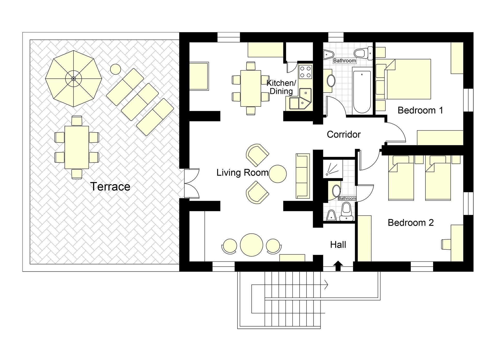 Casa Rossa Floorplan