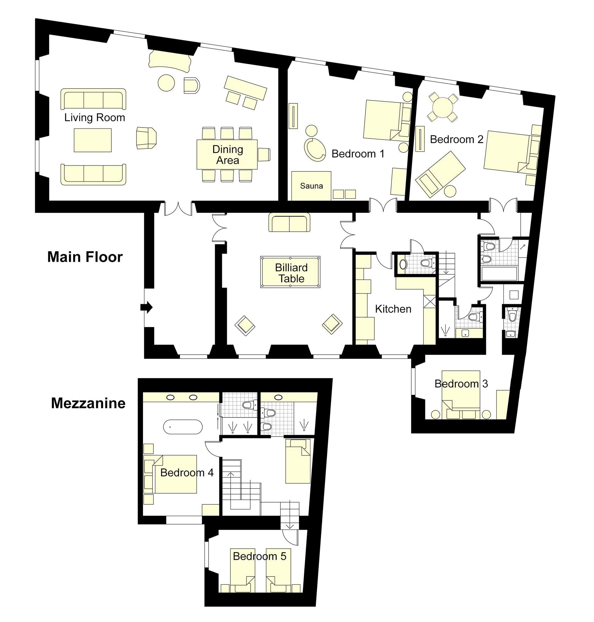 Cavaliere Floorplan