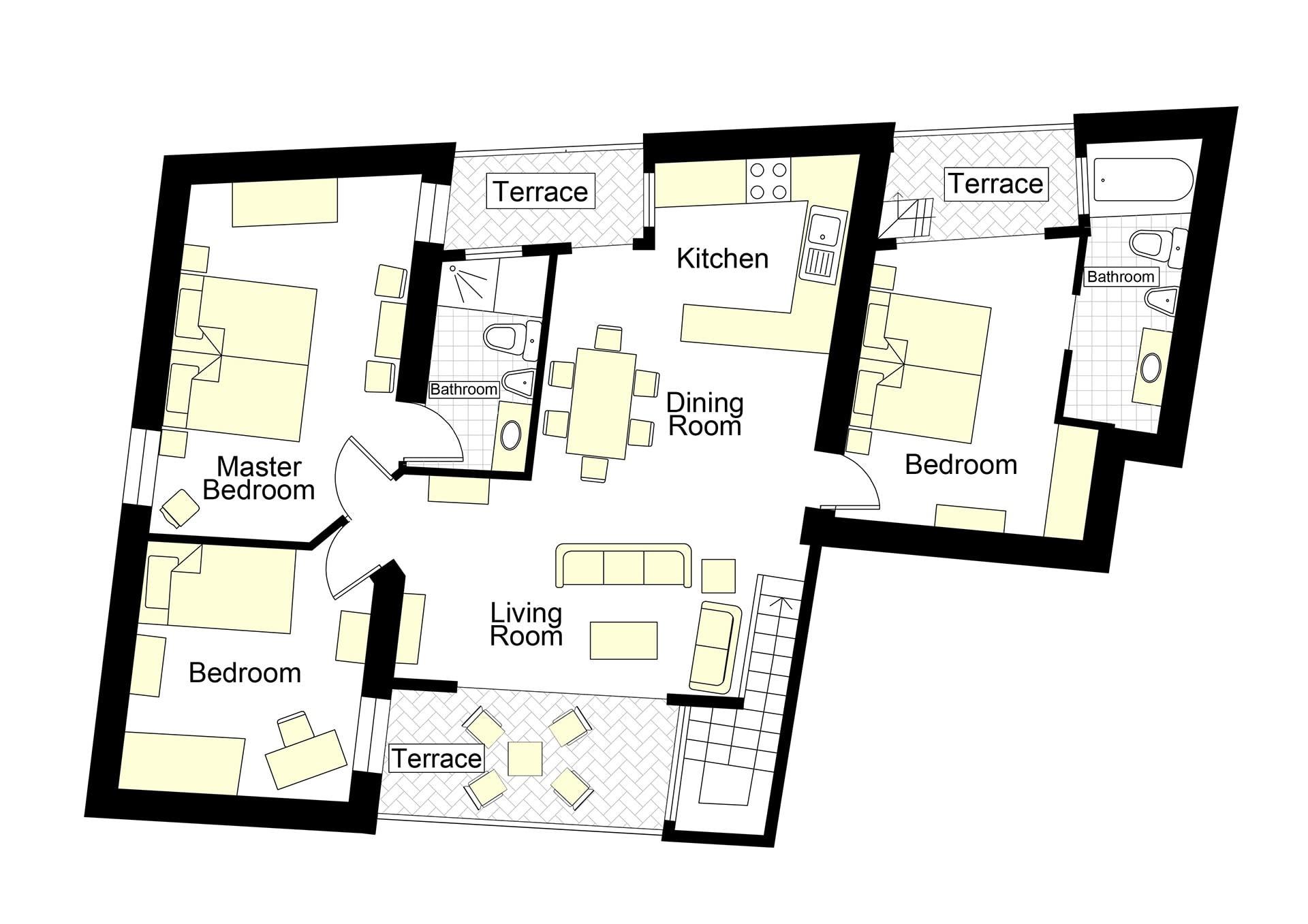Corvetta Floorplan