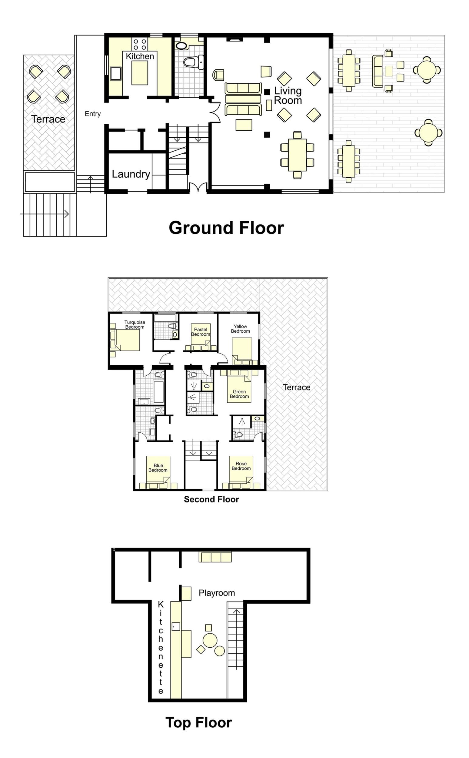 Destino Villa Floorplan