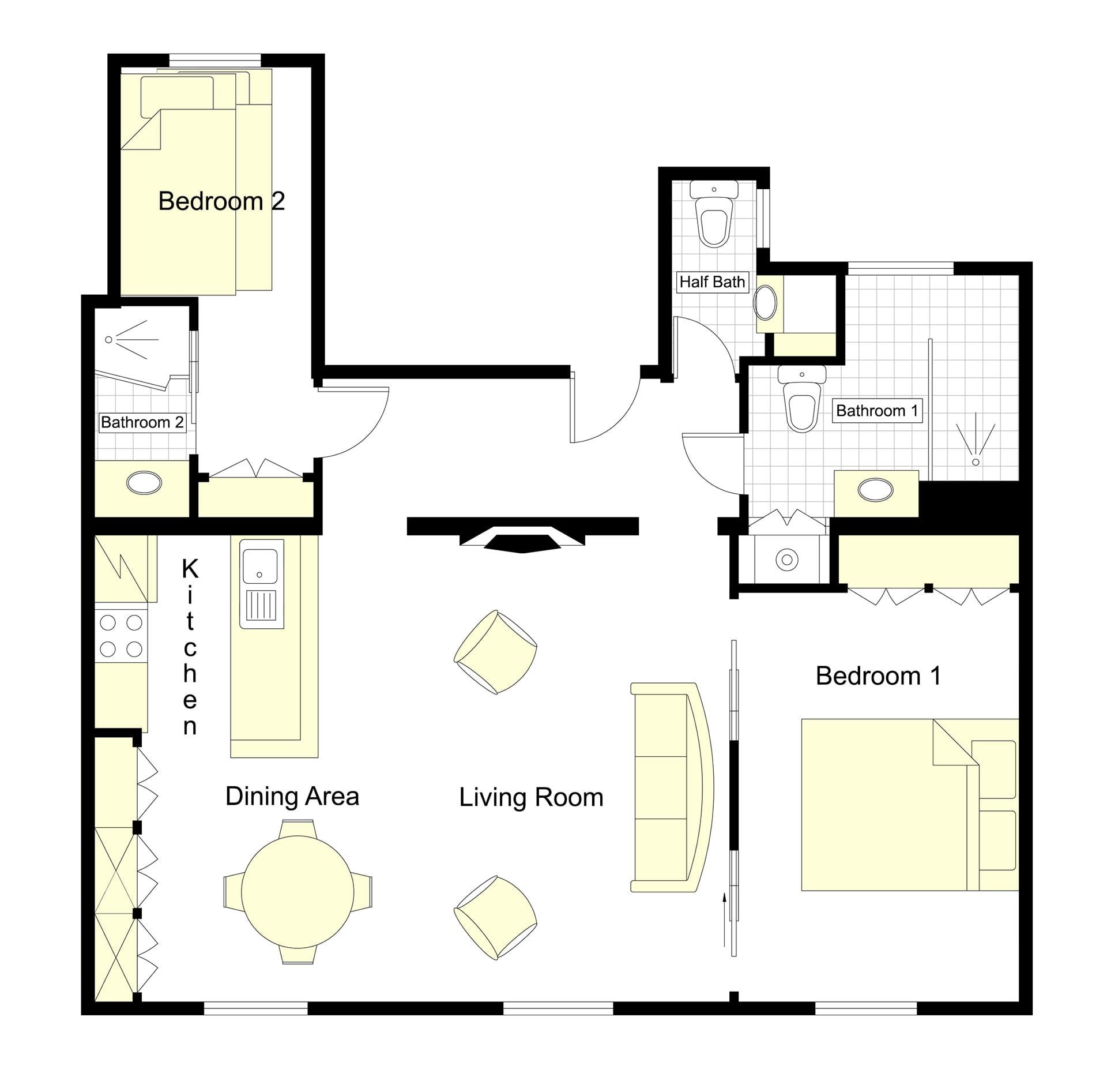 Saint Amour Floorplan