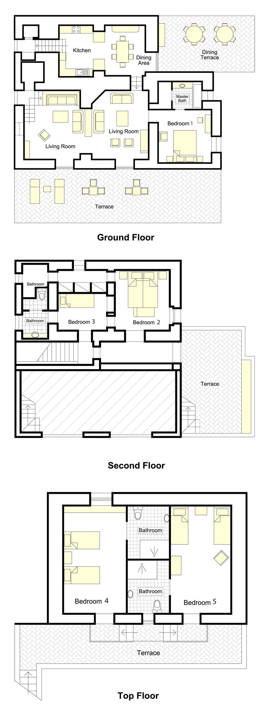 Vista Serena + Cottage Floorplan